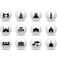 Web buttons landmark icons vector image vector image