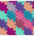 Ethnic floral seamless pattern vector image