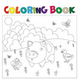 farm animals for coloring book vector image