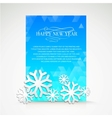 Snowflake and bright christmas background vector image vector image
