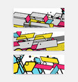glitched abstract background vector image vector image