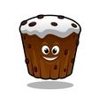 Cartoon cupcake vector image vector image