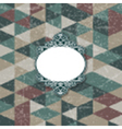 decorative frame on grunge background 1102 vector image vector image