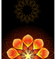 abstract bright flower vector image