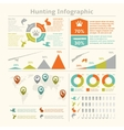 Hunting infographics vector image