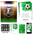 Identity design for Your football club Set of vector image