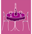 Cute restaurant table vector image
