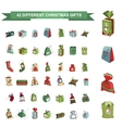 Set of different Christmas gift boxes isolated on vector image