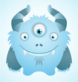 cute blue monster vector image vector image