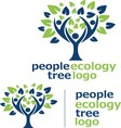 people ecology tree logo 6 vector image