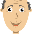 a man with a look of joy on his face vector image