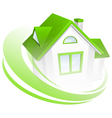 Abstract green house 10 vector image