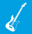 acoustic guitar icon white vector image