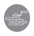 building brick wall vector image