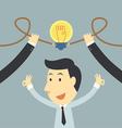 Businessman spark idea up vector image