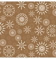 Christmas pattern Winter theme retro texture vector image