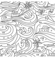 Crazy seamless pattern with sea elements vector image