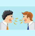 dispute and conflict in the office vector image