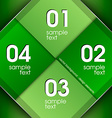 Green Squares vector image