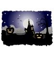 Halloween postcard vector image