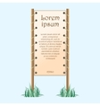 Placard with text vector image
