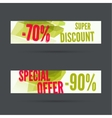 Set of discount banners vector image