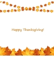 Thanksgiving background design with autumnal vector image
