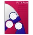 vertical flyer template for design vector image