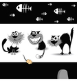 cats black vector image vector image