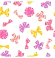 Seamless pattern with decorative delicate satin vector image vector image