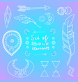 set of boho style elements vector image