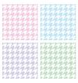 Pastel houndstooth seamless background set vector image