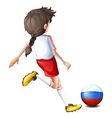 A soccer player from Russia vector image vector image