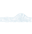 technical background horizontal vector image vector image