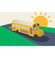 School bus side view vector image