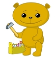 teddy bear worker vector image vector image
