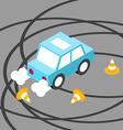 Drift car traffic cone isometric vector image