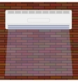 Air Conditioner on the Red Brick Wall vector image vector image