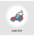 Car toy Flat Icon vector image vector image