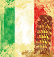 pisa tower grunge background vector image