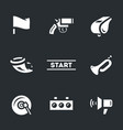 set of start signal icons vector image