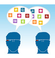 Social media smart glasses concept vector image