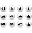 Web buttons landmark icons vector image