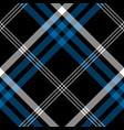 black check pixel square seamless diagonal fabric vector image