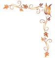 Autumn border vector image