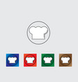 Cook hat icon vector image vector image
