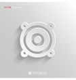 Audio speaker icon - white app button vector image