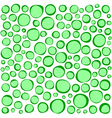 irregular circles collection in green over white vector image