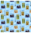 seamless houses vector image