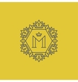 Monogram with letter M vector image vector image